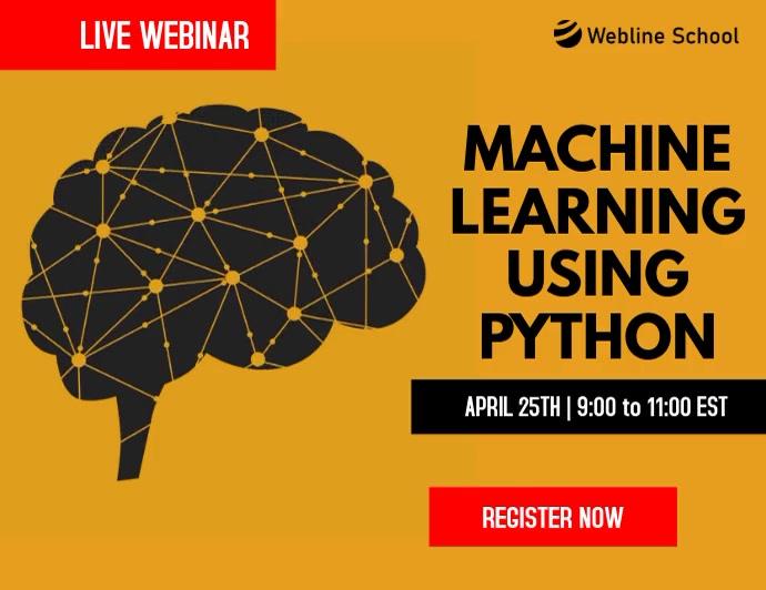 Live Webinar Machine Learning invitation
