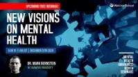 Live Webinar mental health awareness Digital Display (16:9) template