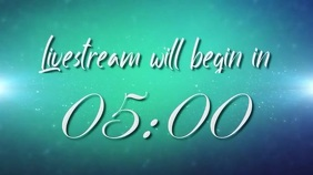 livestream countdown video Digital na Display (16:9) template