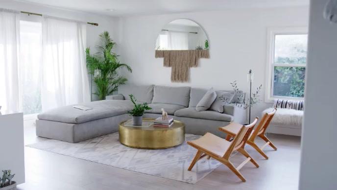 Living room inside video template