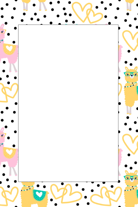 llama party prop frame template postermywall