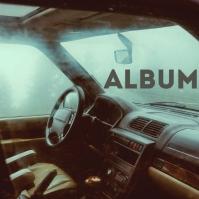 Lo-fi Car Interior Album Song Cover Art template