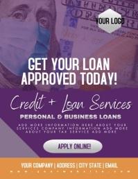 Loan Credit Business Flyer Iflaya (Incwadi ye-US) template