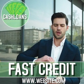 LOANING MONEY DESIGN DIGITAL TEMPLATE VIDEO Carré (1:1)