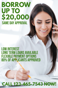 Loans Credit Poster Template