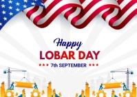 Lobar Day Banner Poskaart template