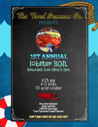 lobster dinner boil Bake flyer template