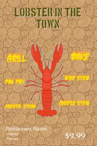 Lobster Restaurant Flyers