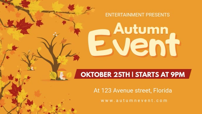 Local Autumn Event Facebook Cover Video