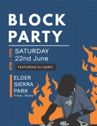 Local Block Party Invitation Flyer Iflaya (Incwadi ye-US) template