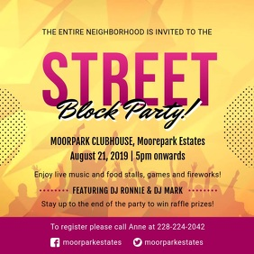 Local Block Party Video Invitation