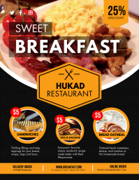 Local Breakfast Restaurant Flyer template