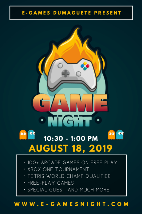Local Game Tournament Flyer Iphosta template