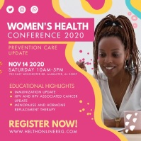 Local Health Conference for Women Advert Cuadrado (1:1) template