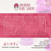 Local Nail Salon Advertisement Publicación de Instagram template