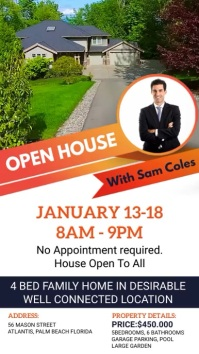 Local Open House Real Estate Ad