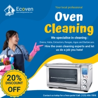 Local Oven Cleaning Company Advertisement Instagram Post template
