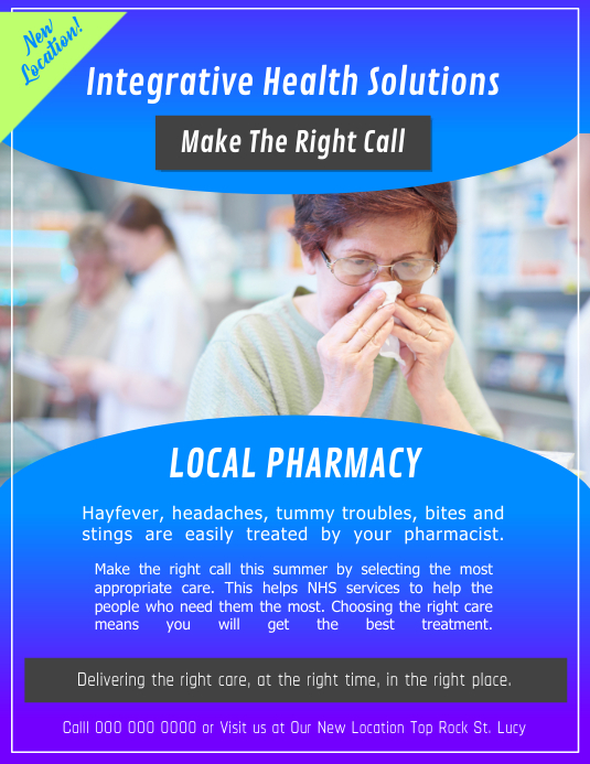 Local Pharmacy Flyer Рекламная листовка (US Letter) template