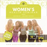Local Women's Health Seminar Advertisement On Publicación de Instagram template