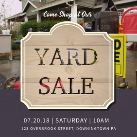 Local Yard Sale Online Ad