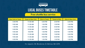 Locale Bus Schedule Banner Template Цифровой дисплей (16 : 9)