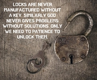 LOCK AND KEY QUOTE TEMPLATE Rectángulo Mediano