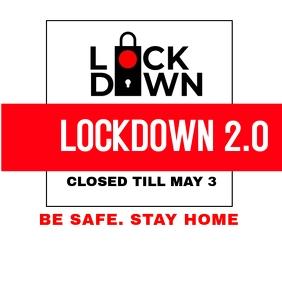 Lockdown Flyer for instagram