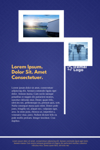 Logistic Business Newsletter Flyer Template