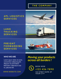 logistic delivery service Flyer (US Letter) template