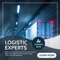 logistic experts advertisement instagram post Instagram-bericht template
