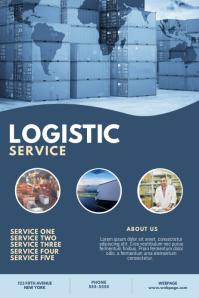 Logistic Service Flyer Template