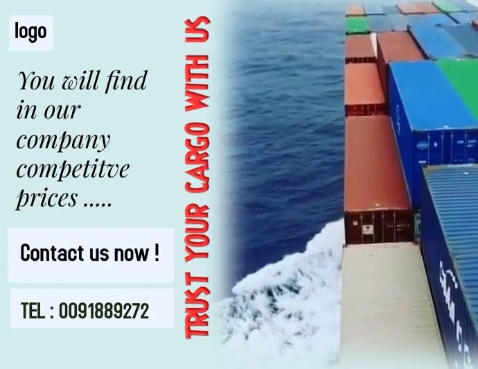 logistics - shipment Pamflet (Letter AS) template