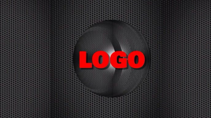 Logo black video graphics design Digitalanzeige (16:9) template