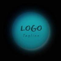 Logo Circle Textured Grain Gradients template