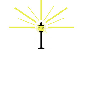 Logo Design With lamp Post & light