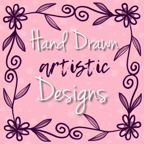 Logo Flower Doodle Art 徽标 template