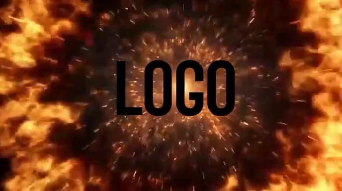 Logo Layout 10 Display digitale (16:9) template