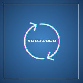 logo TEMPLATE SQUARE CIRCLE DESIGN