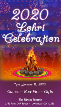 Lohri Celebration Carte de visite template