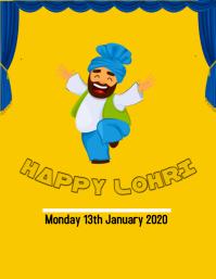 lohri Flyer (US Letter) template