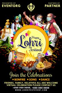 Lohri Festival 2021 Event Template Poster