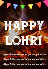 Customizable Design Templates For Lohri Postermywall