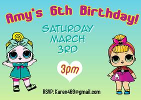 LOL Surprise Birthday Party Invitation