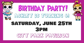 LOL Surprise birthday Party invitation Facebook-gebeurtenisomslag template