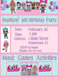 LOL Surprise Invitation