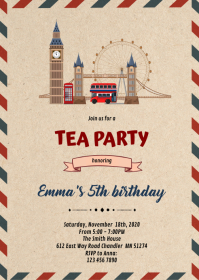 London Birthday Invitation