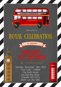 London birthday party invitation