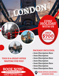 London Travel Agency Flyer Template