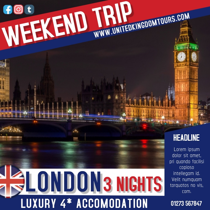 London Travel Deal Ad Template