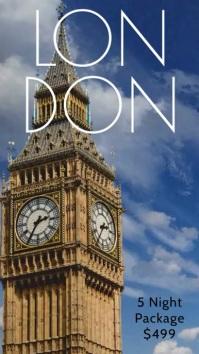 London Travel Video Special Deal Template Digital Display (9:16)